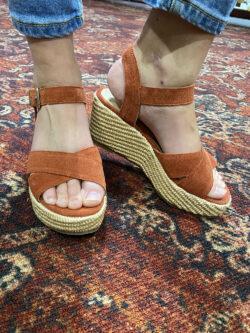 Sandales Compensées Luna Terracota