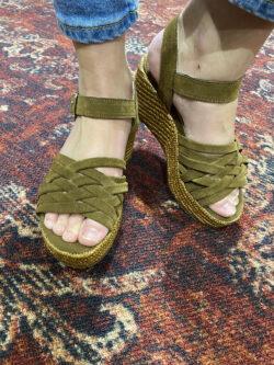 Sandales Compensées Luna Sunset Tabacco