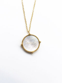 Collier Amour Blanc