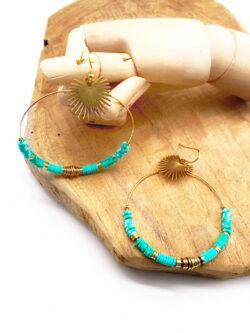 Boucles Little Palm Turquoise