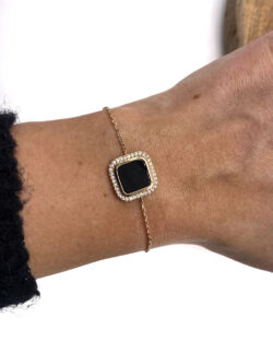 Bracelet Black Square