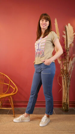 Pantalon Arizona Bleu