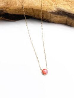 Collier Coral Round Diamond