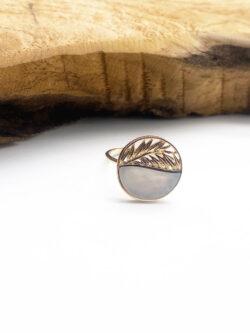 Bague Round Leaf