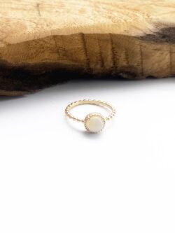 Bague White Bead