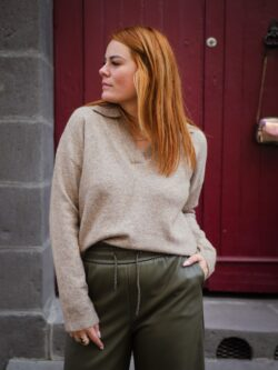 Pull Patcho Taupe